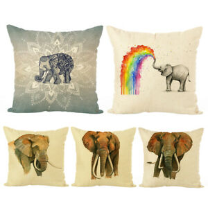 Am-ITS-Vintage-Elephant-Pillow-Case-Cushion-Cover-Home-Office-Sofa-Bed-Car-Dec