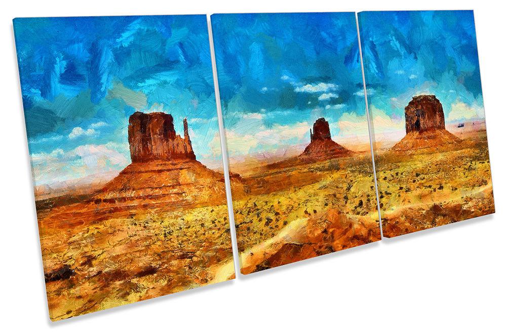 Monument Valley Landscape CANVAS Wand KunstWORK TREBLE Drucken Kunst