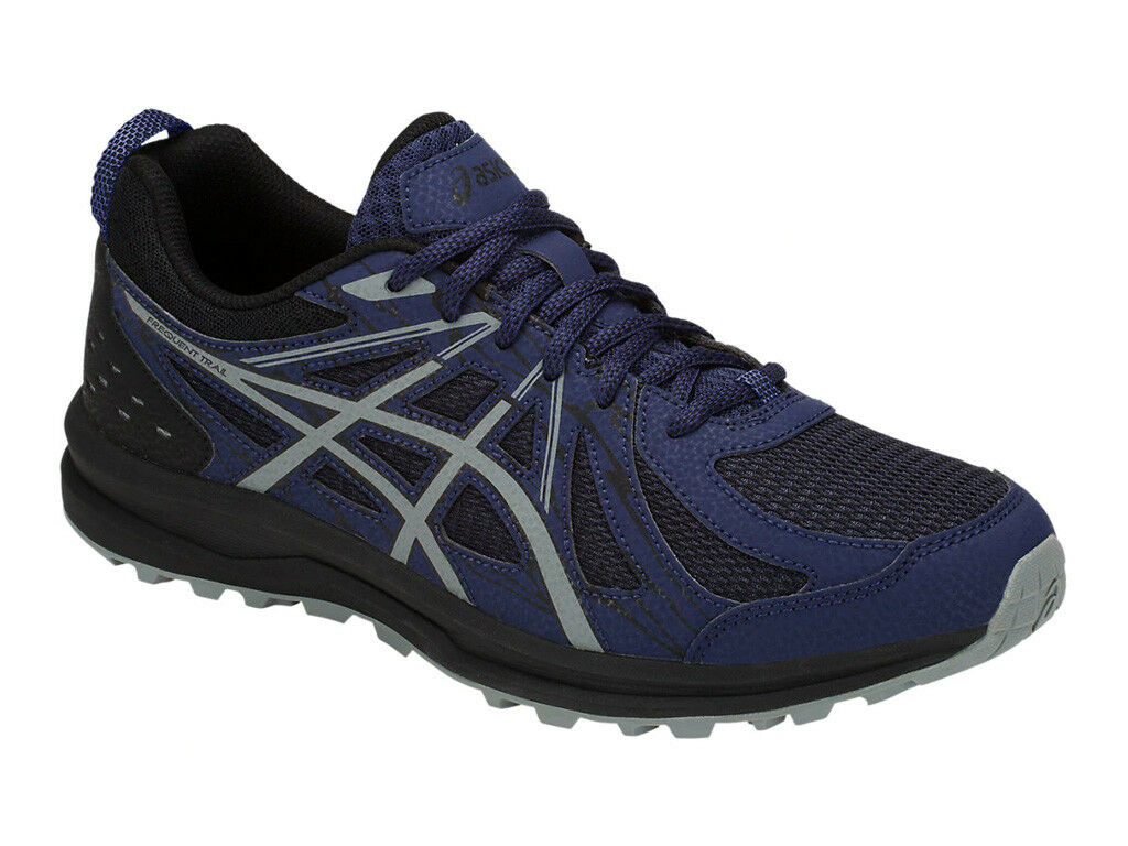 [ASICS] FREQUENT TRAIL bluee Print Print Print Men's Hiking Trail Running shoes 1011A034.400 7127a9