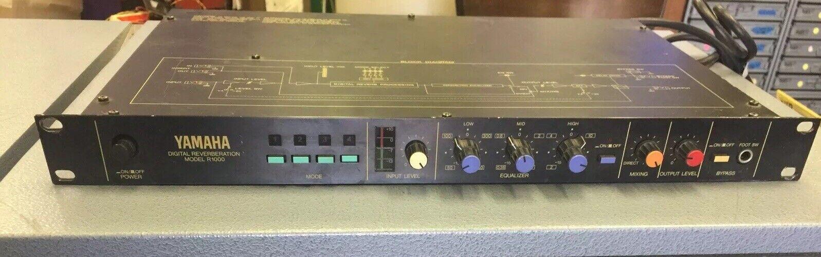 Vintage Yamaha Digital Reverbring Rack Unit Modell R1000