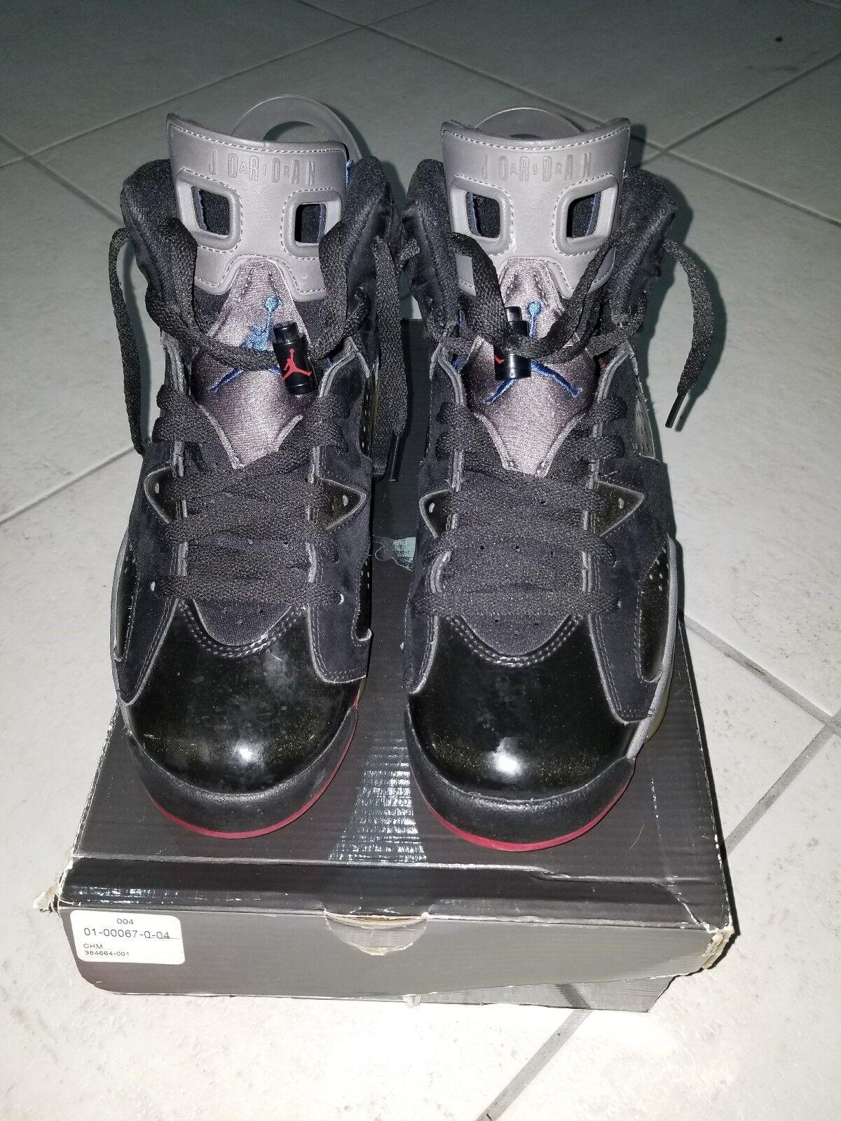 nike air jordan vi 6 retro - schwarz licht / rot - blaue licht schwarz graphit kolben sz 8,5 29aeea