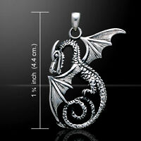 Sea Dragon Sterling Silver Pendant By Peter Stone Unique Fine Jewelry