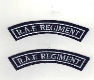pair RAF Regiment Shoulder Titles