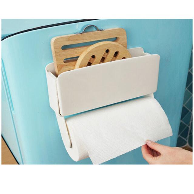 New Magnet Paper Towel Holder Kitchen Towel Hanger & Storage Refrigerator