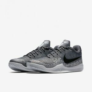 Men s Nike Kobe Mamba Rage Basketball Shoes Dark Grey Pure Platinum ... b71fe01e1