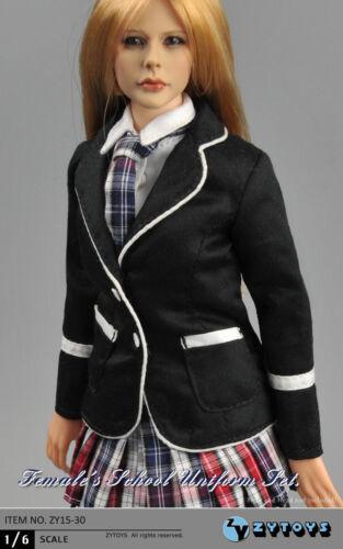 "1//6 Women Clothes Girl School Uniform Set For 12/"" Phicen Hot Toys U.S.A SELLER"