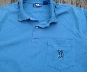 1d404bd5 PGA Tour Golf Mens Polo Shirt Size L, Large Blue with Black pin ...