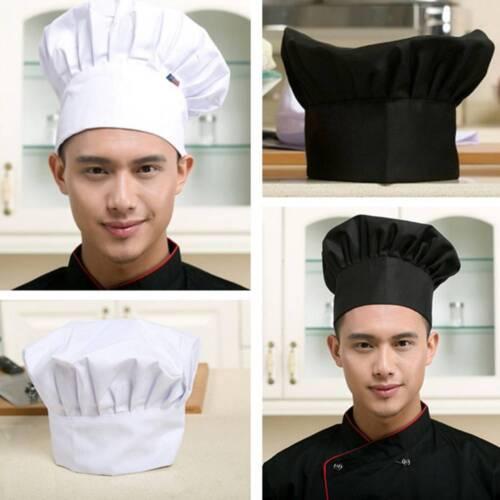 1Pc Cook Adjustable Men Kitchen Baker Chef Elastic Cap Hat Catering Comfortable