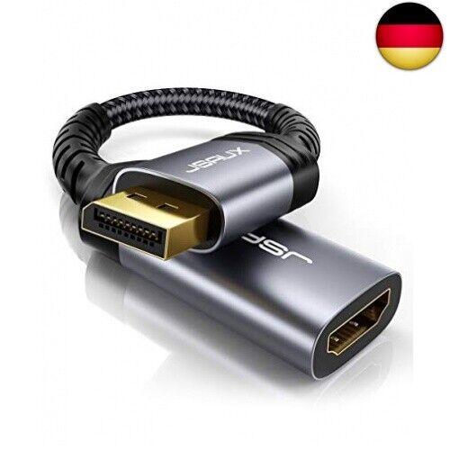 JSAUX DisplayPort auf HDMI Adapter 1080P @ 60Hz Vergoldeter DP Stecker zu HDMI