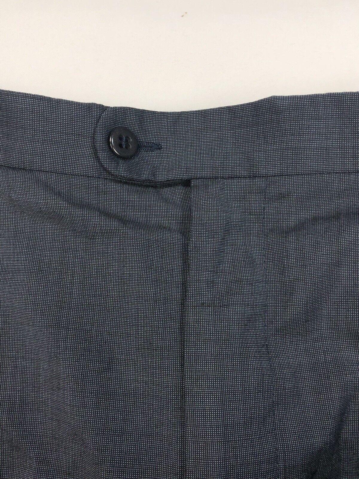 Zanella Bennett Dark bluee Front Pleat Mem Dress Pants Sz 34 X 28