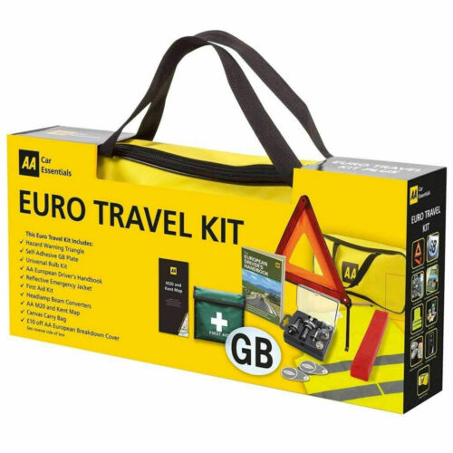AA European Travel Kit Car Driving Emergency Warning Triangle Legal EU Abroad