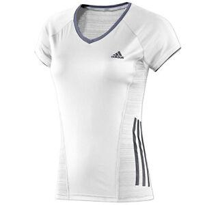 Adidas Damen Sport T-Shirt France Fitness Top Trikot Laufshirt Women weiss//blau
