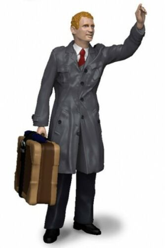 La fábrica de figuras 180151 taxi cliente-figura 1:18 hombre con maleta