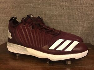 check out 8416e 85d6c Adidas Men's Boost Icon 3 Metal Baseball Cleats Maroon White Size ...