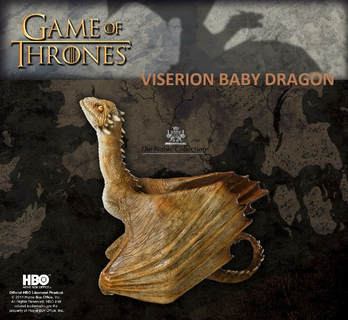 Noble Collection Game Of Thrones - Viserion Baby Dragon Figurine - Neuf Emballé