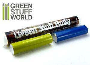 Green Stuff World Kneadatite Blue//Yellow Green Stuff 100g Epoxy Putty Bar