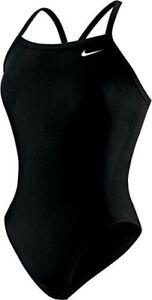 Nike-Womens-Girls-Nylon-Core-Solid-Lingerie-Swimsuit-Black-Size-20-GRL5-66-NWT