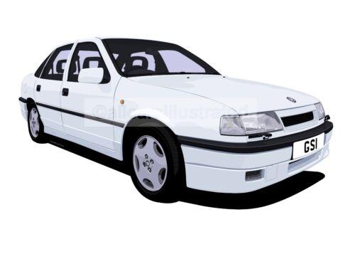 VAUXHALL CAVALIER GSi FRIDGE MAGNET CHOOSE YOUR CAR COLOUR. LARGE