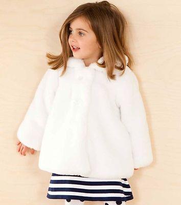 Luxury Le Top White Faux Fur Fancy Coat, Fur Coat For Baby Girl