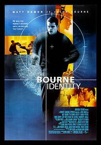 BOURNE IDENTITY * CineMasterpieces DS ORIGINAL MOVIE ...