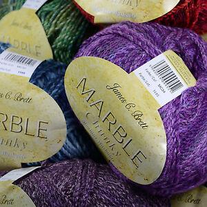 James-C-Brett-MARBLE-CHUNKY-200g-Knitting-Wool-Complete-Range