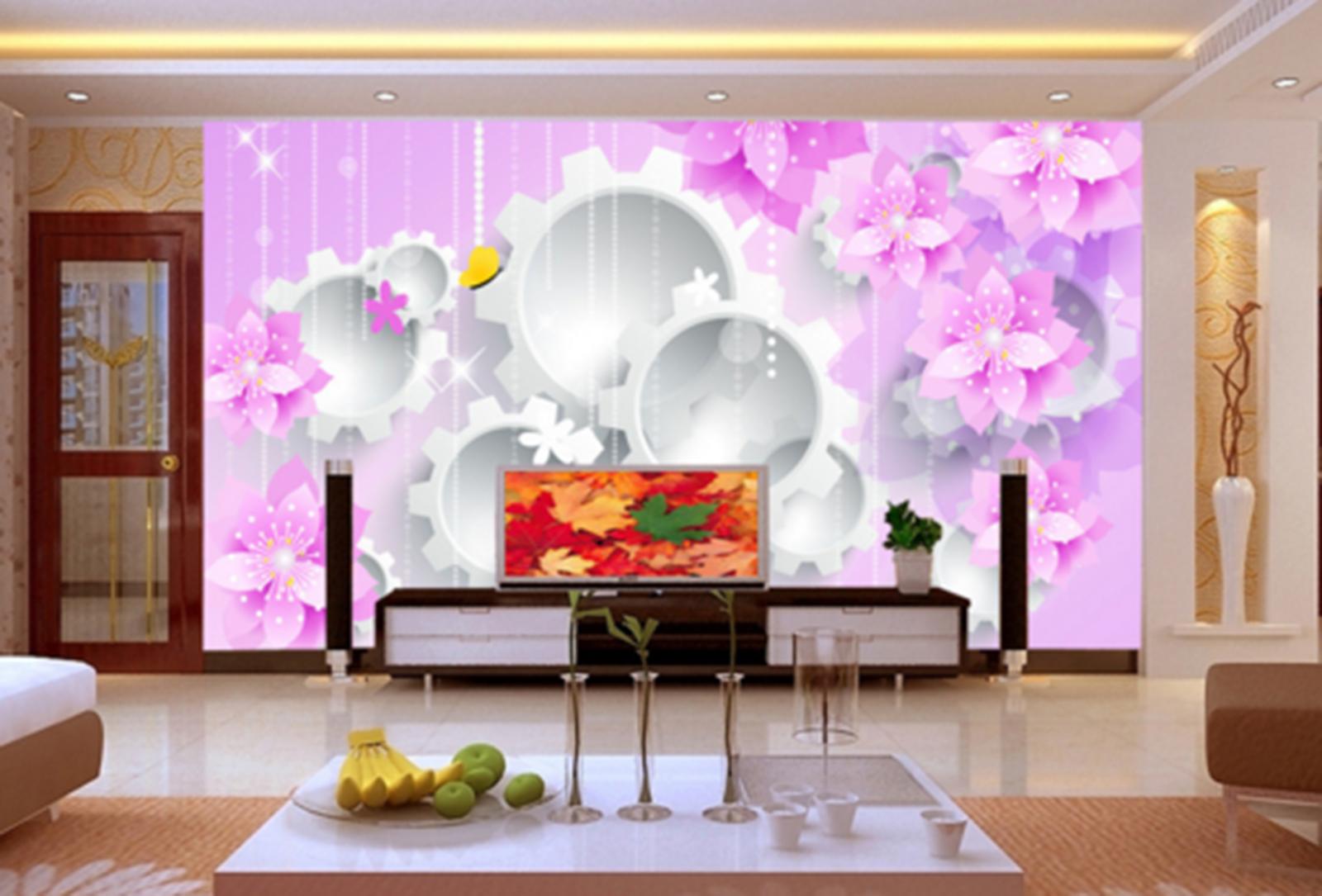 3D Weiß Gear 498 Wallpaper Murals Wall Print Wallpaper Mural AJ WALL AU Kyra