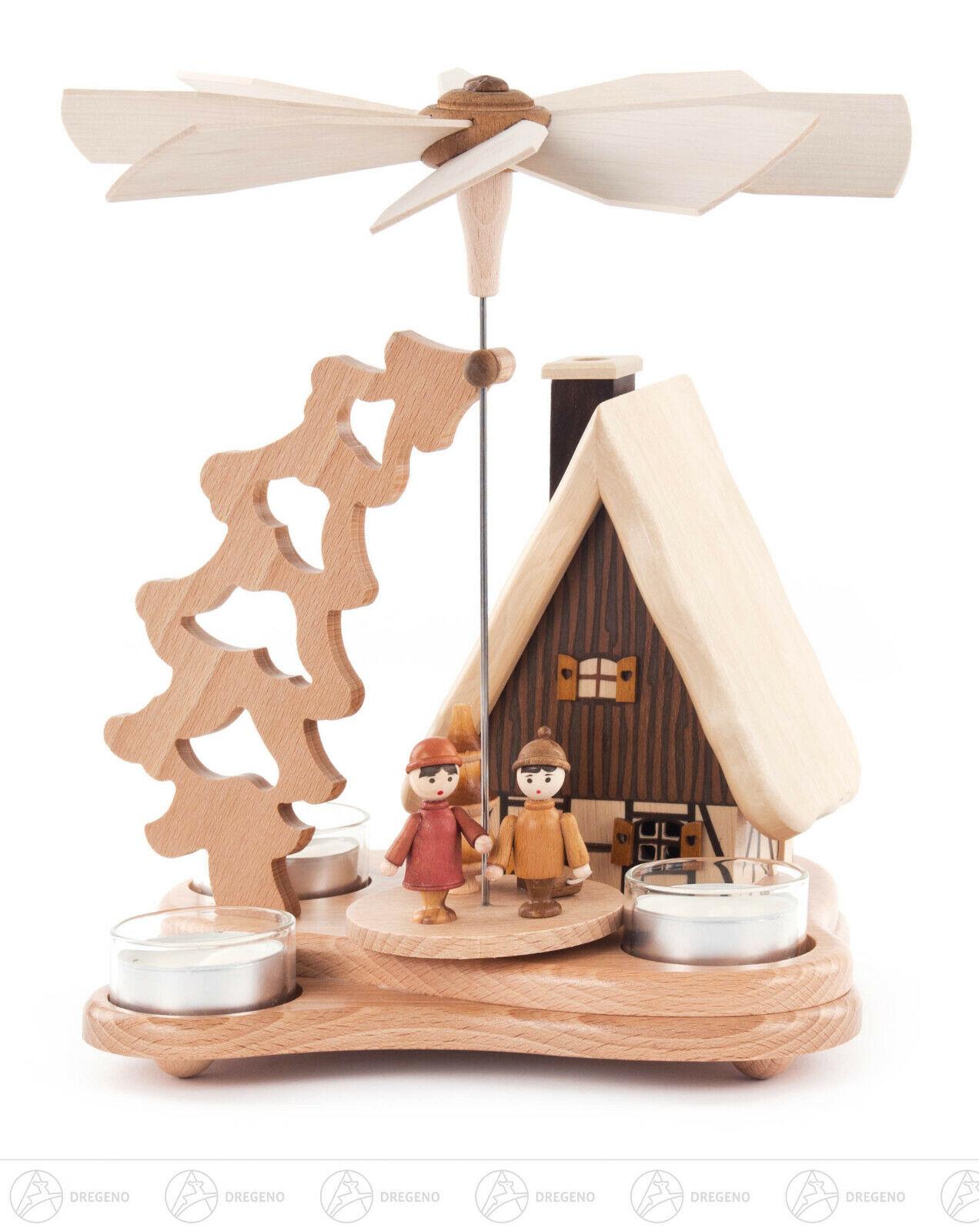 Pyramide mit Rauchhaus für für für Teelicht Erzgebirge 16feee