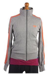 Adidas-Chandal-Top-chaqueta-de-cascara-Retro-Vintage-de-Gris-Naranja-pecho-38-034-SW1311