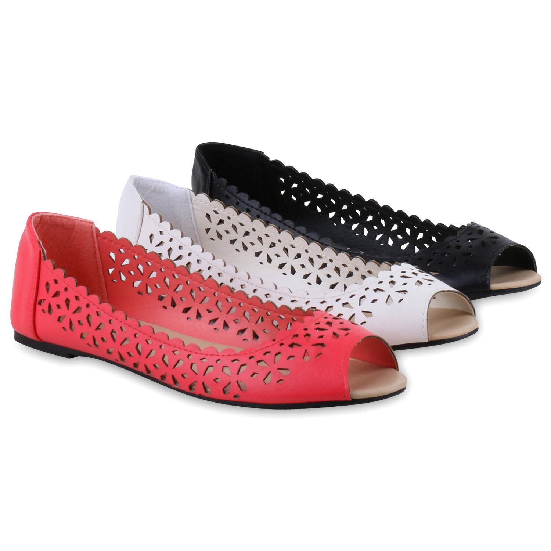 Modische Peeptoe-Ballerinas Damen Peeptoe-Ballerinas Modische Flats Cut-outs Sommer  Zapatos  811496 Top 689933