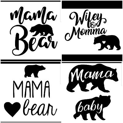Mama Laptop Baby Bear-cabin-Fall-Cabin decor-Bear mama-Bear family-Window Papa Car decal