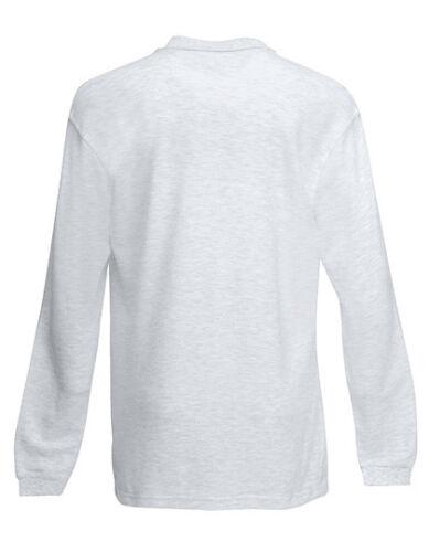 C Fruit of the Loom Premium Long Sleeve Polo Poloshirt S XXL 3XL F541N