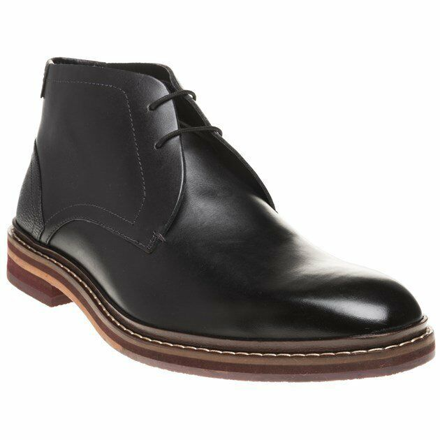 b7d52e4a3448 Ted Baker Men s Azzlan Leather Lace up Derby Boot Black UK 11 for sale  online