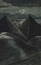 Paul Nash incorniciato stampa-LE PIRAMIDI nel mare (PICTURE REPLICA MONET DALI)