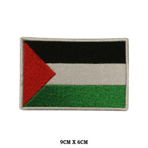 PALESTINE National Flag Embroidered Patch Iron on Sew On Badge For Clothes etc