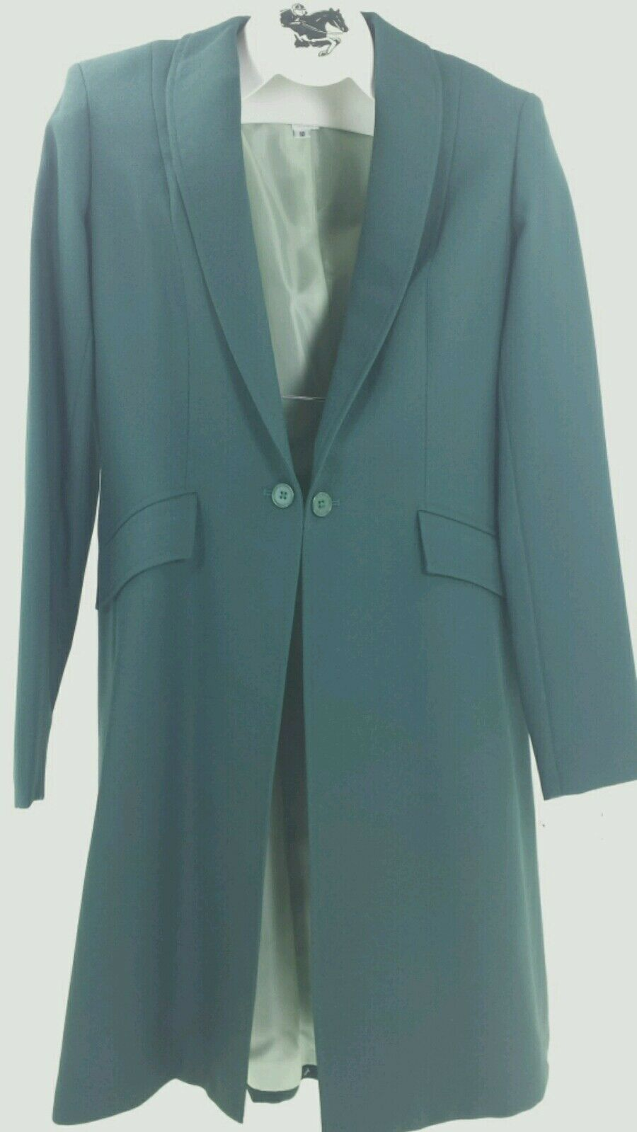 Reed Hill Saddleseat Day Coat HUNTER GREEN Crepe Polyester 16 USA
