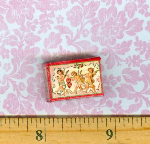 DOLLHOUSE MINIATURES  size Victorian Valentine Cupids Candy Box
