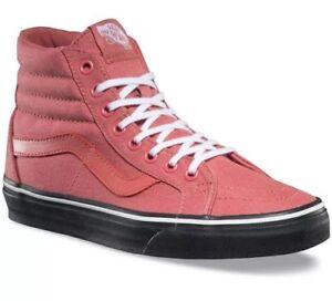 8ff71b3e87 New Vans Sk8-Hi Reissue Faded Rose Black Outsole Sneakers Women s 5 ...