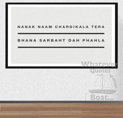 Frame Guru Nanak Dev Ji Quote Print Poster Sikh Sikhism Life NANAK NAAM