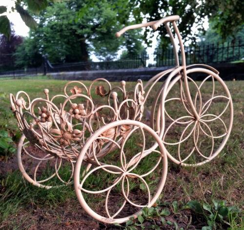 Garden Small Trike Bike Planter For Plants Flower Pots Ornate Shabby style