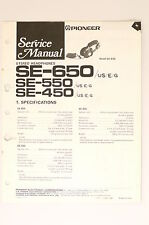 PIONEER SE-650 SE-550 SE-450 Stereo Headphones Original Service-Manual! o66