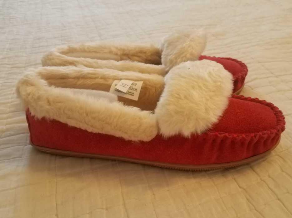 Para mujer 6 8 9 10 11 J Crew de de de Color rojo brillante Gamuza Mocasines Calzado Sin Cordones Zapatillas Lodge  comprar ahora