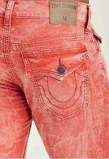 True Religion Geno W/Flap Pocket Triple Needle Corduroy Pants Vintage Red Sz 32
