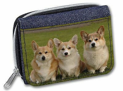 Pembroke Corgi Dogs Girls//Ladies Denim Purse Wallet Christmas Gift Idea AD-C1JW