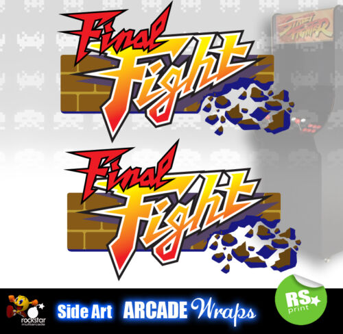 Final Fight Arcade Side Artwork Panel Stickers Graphics Laminated All Sizes