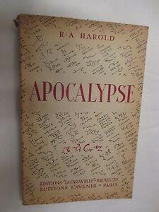 R-A-Harold-034-Apocalypse-034-Editions-La-Caravelle-1949
