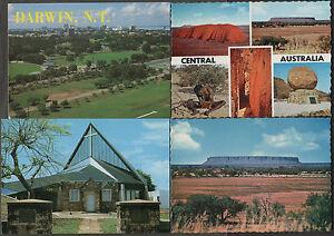 k2809-4-x-AUSTRALIAN-POSTCARDS-SCENES-AROUND-THE-NORTHERN-TERRITORY