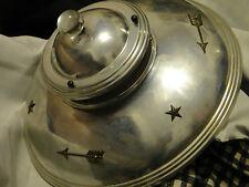 Vintage Starburst Atomic Ceiling Light Shade Fixture  MID CENTURY  3 chain retro