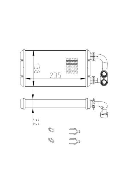 Wärmetauscher Heizungskühler Innenraumheizung BMW 3 Compact (E36) 318 tds