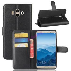 De-Luxe-Rabattable-Portefeuille-Cuir-PU-Carte-Etui-pour-Huawei-Mate-10-Lite-Pro