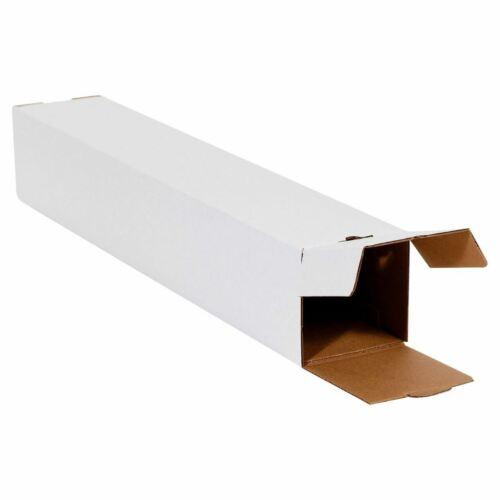5x5x43 White Square Mailing Tubes Poster Document Blueprints Storage Boxes